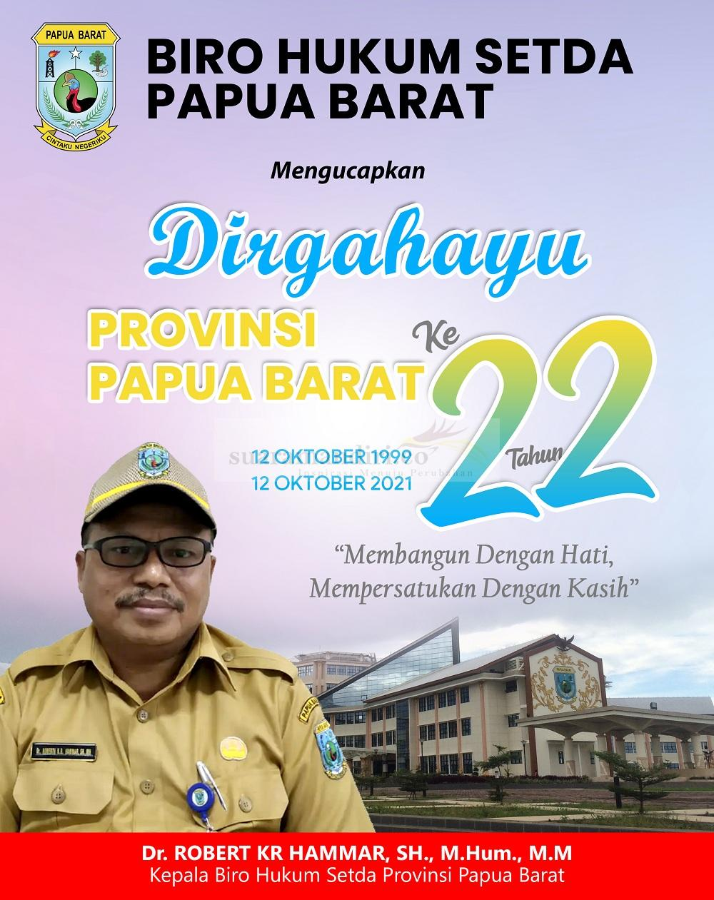 HUT Papua Barat 2021